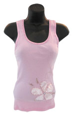 Pink Tank with Flower